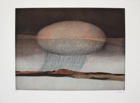 Etching And Aquatint Franke - Untitled
