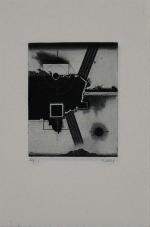 Etching And Aquatint Beeri - Untitled
