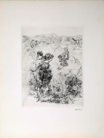Etching Bellmer - Untitled