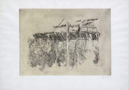 Engraving Baselitz - Untitled