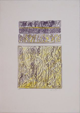 Lithograph Licata - Untitled