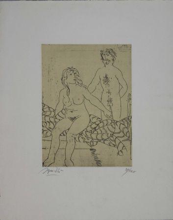 Engraving Manzu - Untitled
