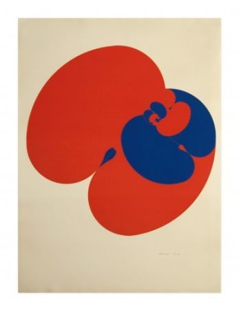 Lithograph Agam - Untitled