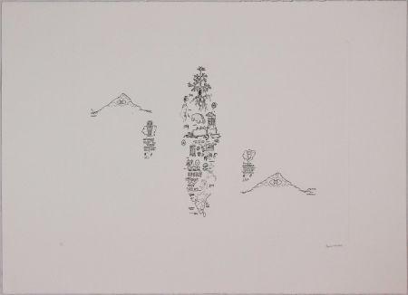 Engraving Baruchello - Untitled