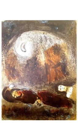 Lithograph Chagall - Untitled