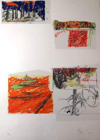 Lithograph Schifano - UNTITLED