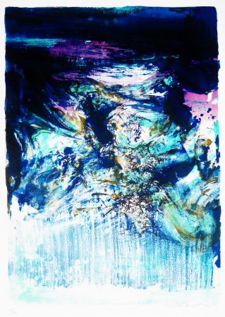 Lithograph Zao - Untitled
