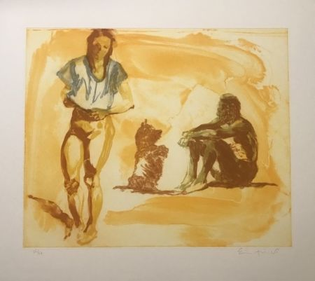 Etching Fischl - Untitled