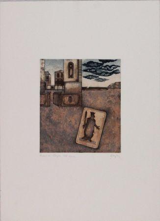 Etching And Aquatint Benaglia - Untitled