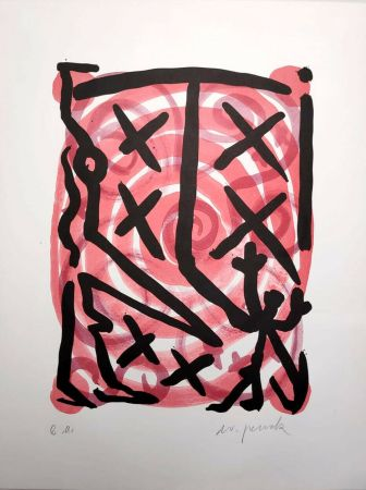 Lithograph Penck - Untitled