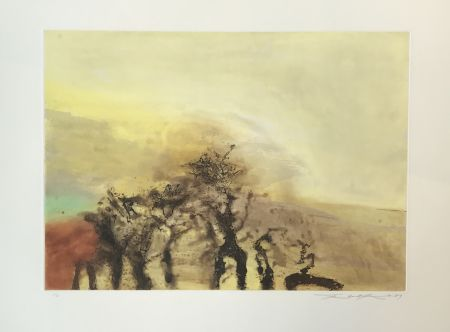 Etching And Aquatint Zao - Untitled