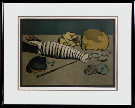 Lithograph Chemiakin - Untitled - Nature Morte