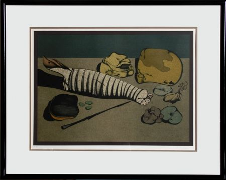 Lithograph Chemiakin - Untitled - Nature Morte