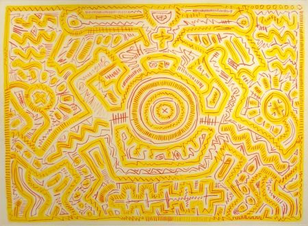 Drypoint Haring - Untitled, 1985