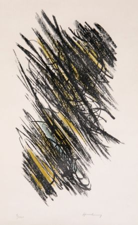 Lithograph Hartung - Untitled 2