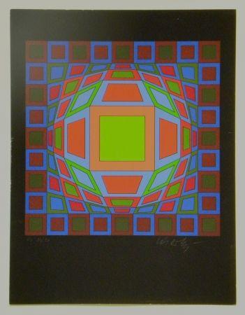 Screenprint Vasarely - Untitled #4