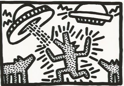 Lithograph Haring - Untitled 4