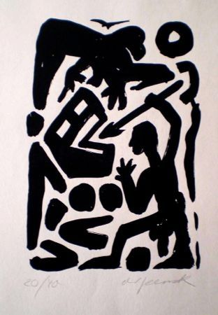 Lithograph Penck - Untitled 6