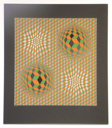 Screenprint Vasarely - Untitled #6