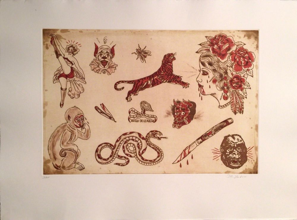 Etching Lakra (Dr.) - Untitled, #7