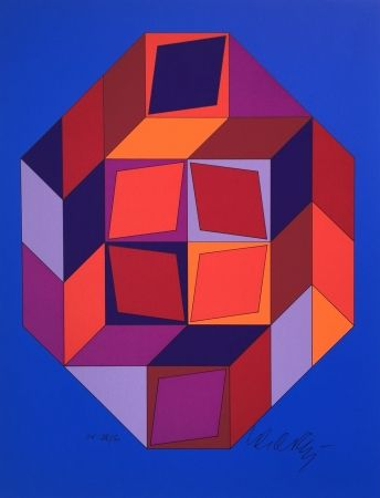 Screenprint Vasarely - Untitled #7