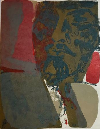 Lithograph Guiramand - Untitled 8