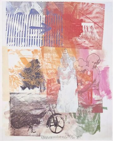 Lithograph Rauschenberg - Untitled (Arrow)