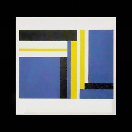 Screenprint Bolotowsky - Untitled (Blue)