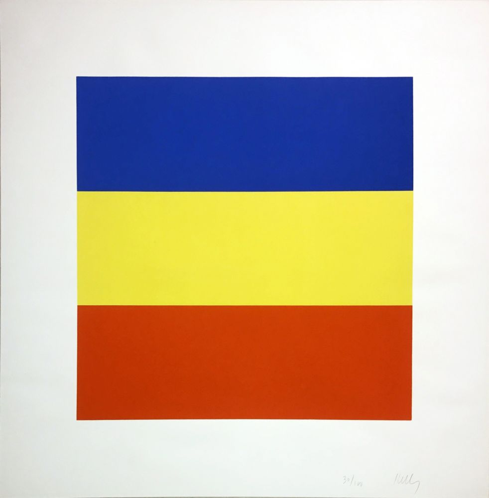 Screenprint Kelly - Untitled (Blue/Yellow/Red)