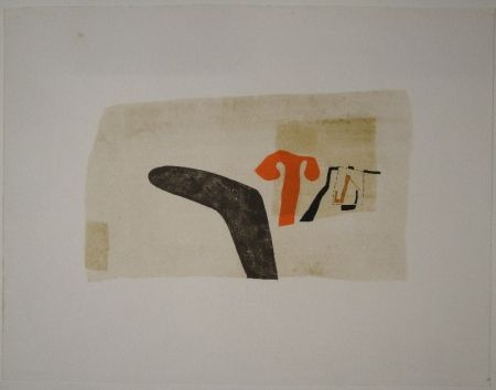 Lithograph Bissier - Untitled (Composition)