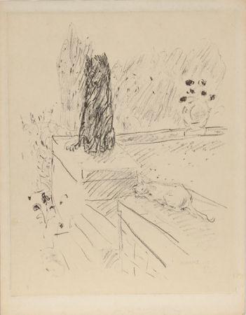 Engraving Bonnard - Untitled (Dog and Cat)