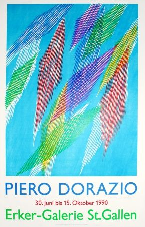 Lithograph Dorazio - Untitled (Exhibition Poster)
