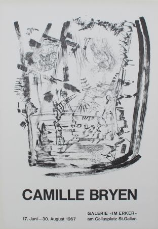 Lithograph Bryen - Untitled (Exhibition poster)