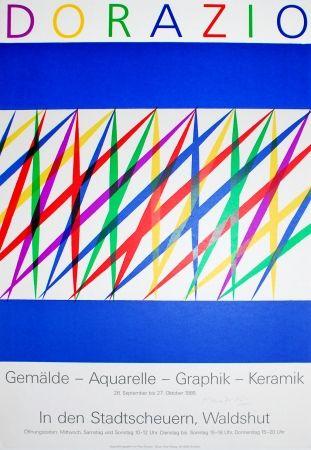 Lithograph Dorazio - Untitled (Exhibition poster)