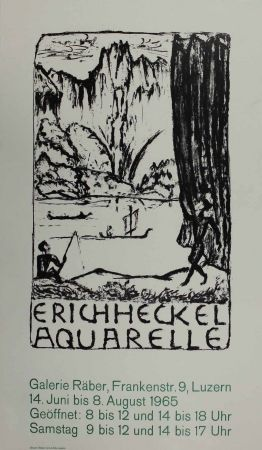 Lithograph Heckel - Untitled (Exhibition poster)