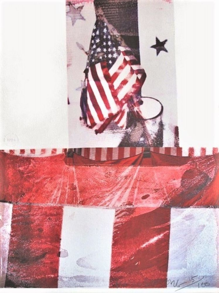 Lithograph Rauschenberg - Untitled (For Kennedy)