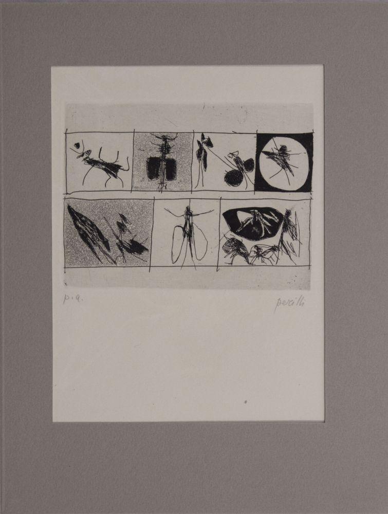 Engraving Perilli - Untitled from 'Avanguardia internazionale', vol. 4