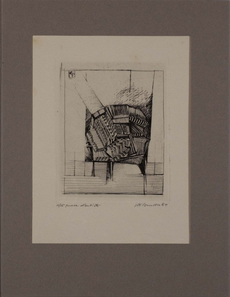 Engraving Pomodoro - Untitled from 'Avanguardia internazionale', vol. 4