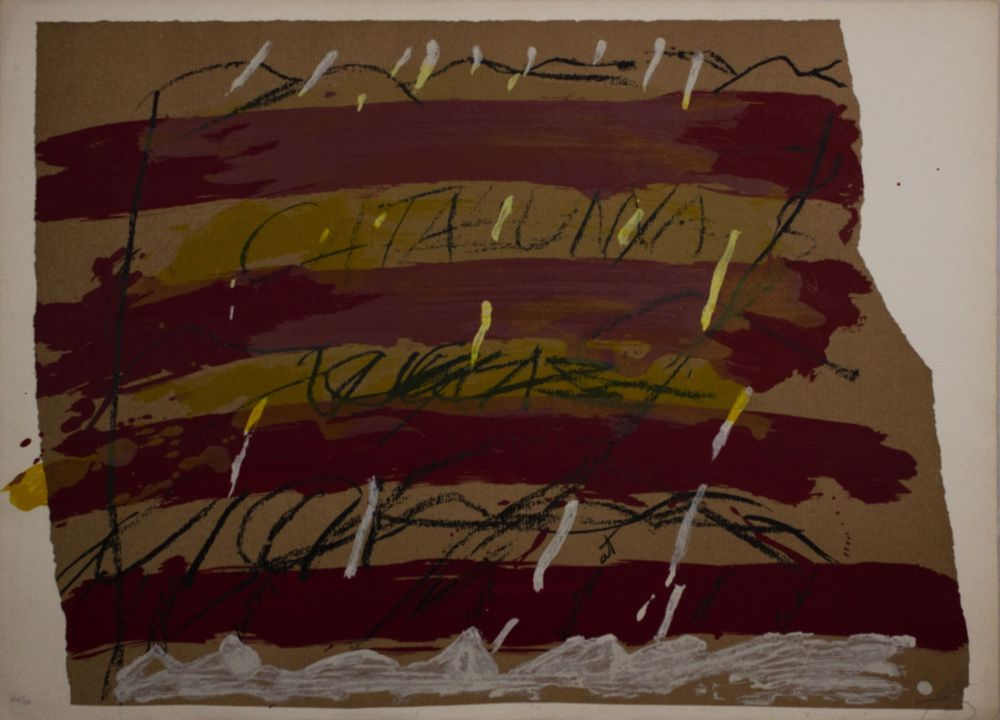 Lithograph Tàpies - Untitled from 'Berlin Suite' portfolio