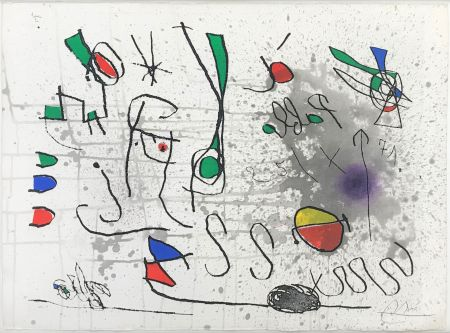 Etching And Aquatint Miró - UNTITLED (FROM HOMAGE TO PICASSO)