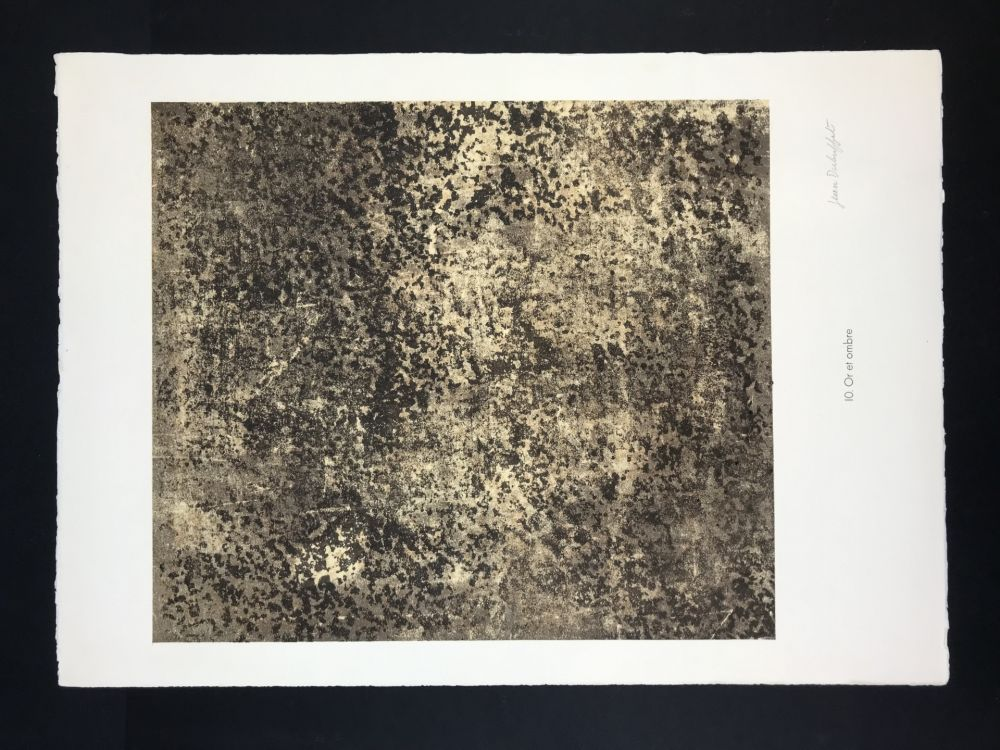Lithograph Dubuffet - Untitled from phénomenes portfolio