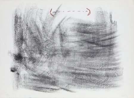Lithograph Tàpies - Untitled from St. Gallen