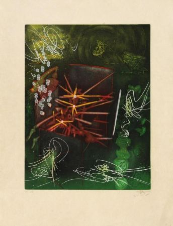 Etching And Aquatint Matta - Untitled from