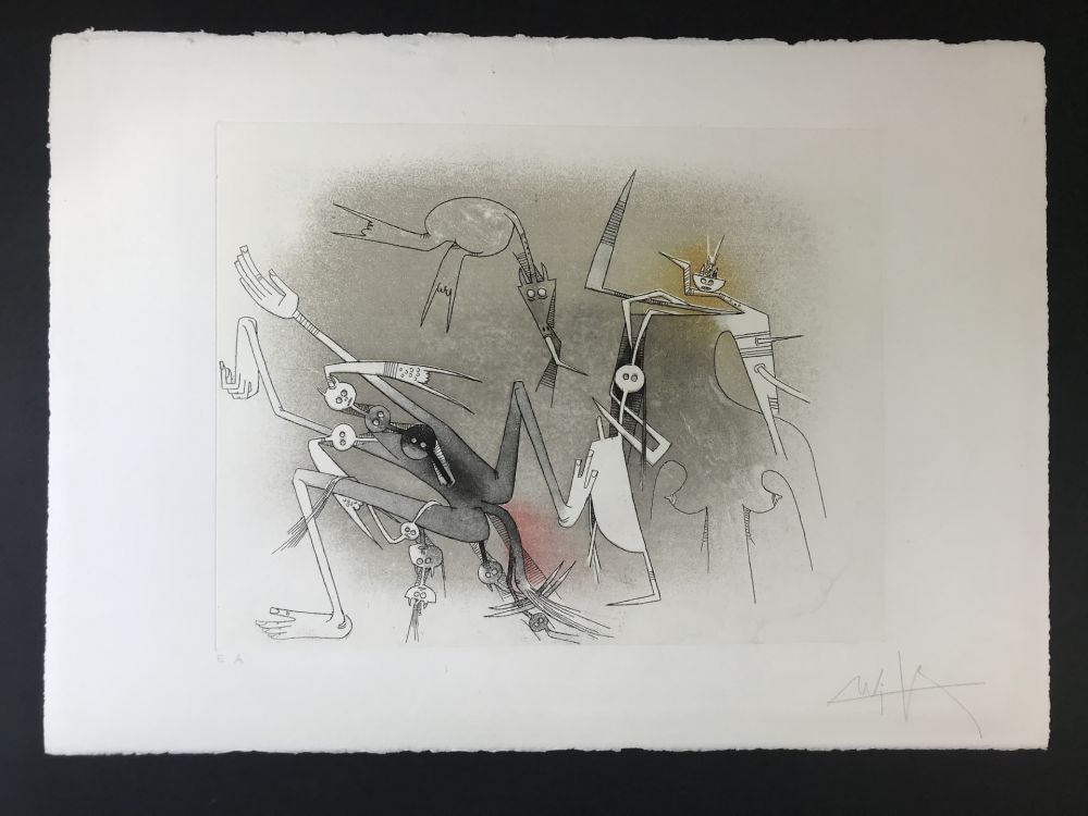 Etching And Aquatint Lam - Untitled from ''Visible invisible folder''