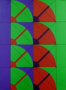 Lithograph Pomodoro - Untitled geometric abstract