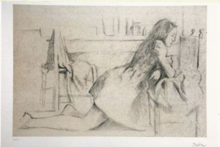 Lithograph Balthus - Untitled I (meditation)