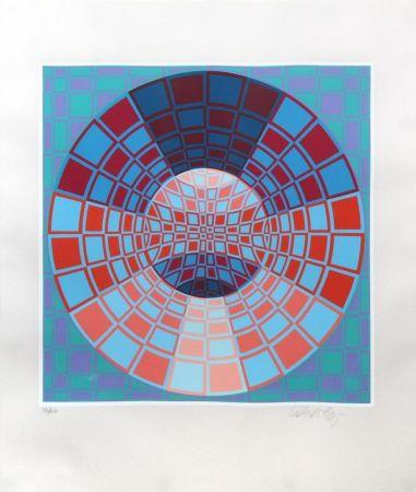 Screenprint Vasarely - Untitled II