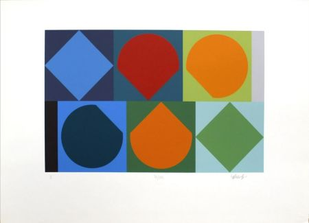 Screenprint Vasarely - Untitled II