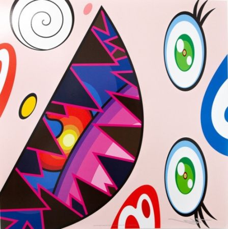 Lithograph Murakami - Untitled II from We Are the Square Jocular Clan,
