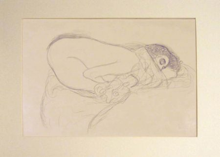 Lithograph Klimt - Untitled III